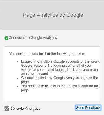 problema de vinculacion page analytics