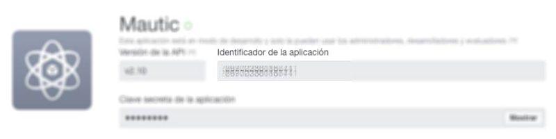 identificador app facebook