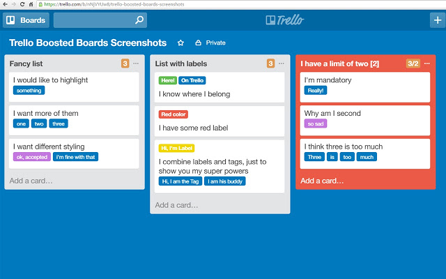 bootsted boards extensiones trello