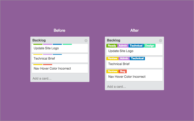 card color trello